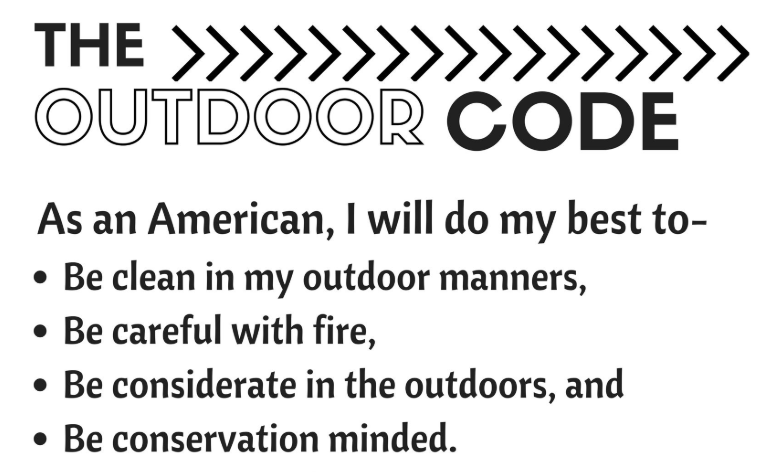 image regarding Cub Scout Outdoor Code Printable identified as out of doors code bsa -